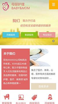 预览其他 网站模板的手机端-模板编号:2754