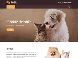 预览宠物网站模板的PC端-模板编号:317