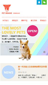 预览宠物网站模板的手机端-模板编号:324