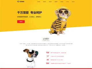 预览宠物网站模板的PC端-模板编号:326