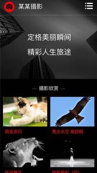 预览摄影/冲印网站模板的手机端-模板编号:2241