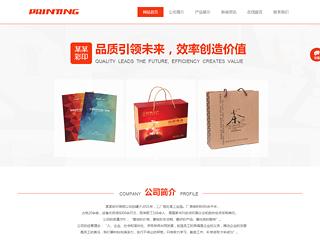 预览印刷/包装网站模板的PC端-模板编号:2281
