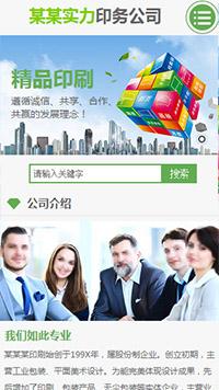 预览印刷/包装网站模板的手机端-模板编号:2287