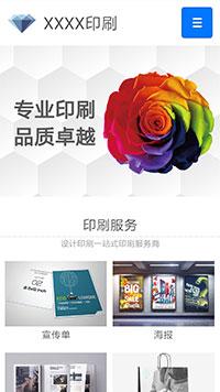 预览印刷/包装网站模板的手机端-模板编号:2268