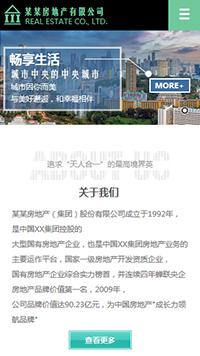 预览房地产网站模板的手机端-模板编号:2312