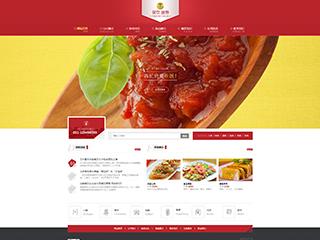 预览餐饮网站模板的PC端-模板编号:385