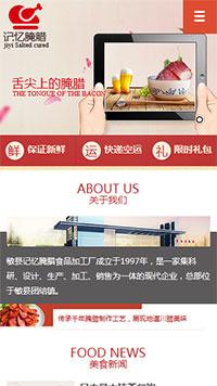 预览餐饮网站模板的手机端-模板编号:366