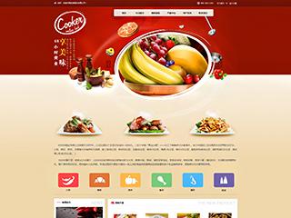 预览餐饮网站模板的PC端-模板编号:382