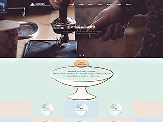 预览餐饮网站模板的PC端-模板编号:387