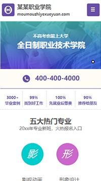 预览学校网站模板的手机端-模板编号:2395