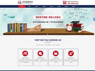 预览学校网站模板的PC端-模板编号:2416
