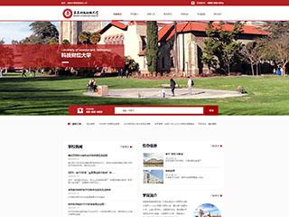 预览学校网站模板的PC端-模板编号:2408