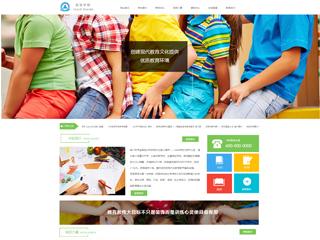 预览学校网站模板的PC端-模板编号:2417