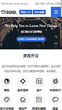预览学校网站模板的手机端-模板编号:2411
