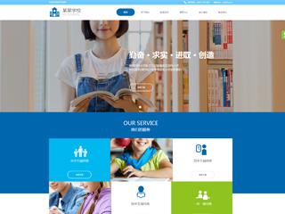 预览学校网站模板的PC端-模板编号:2391