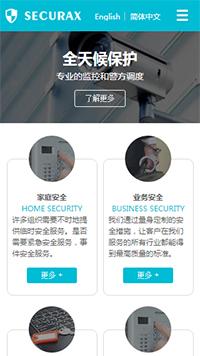 预览安防/监控器材网站模板的手机端-模板编号:2450