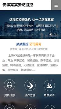 预览安防/监控器材网站模板的手机端-模板编号:2453