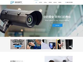 预览安防/监控器材网站模板的PC端-模板编号:2463