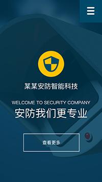 预览安防/监控器材网站模板的手机端-模板编号:2437