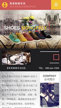 预览鞋帽网站模板的手机端-模板编号:2499