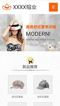 预览鞋帽网站模板的手机端-模板编号:2493