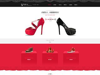 预览鞋帽网站模板的PC端-模板编号:2490