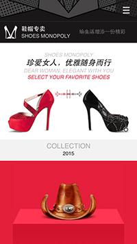 预览鞋帽网站模板的手机端-模板编号:2490