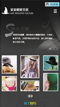 预览鞋帽网站模板的手机端-模板编号:2497