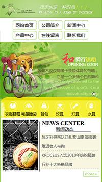 预览运动网站模板的手机端-模板编号:547