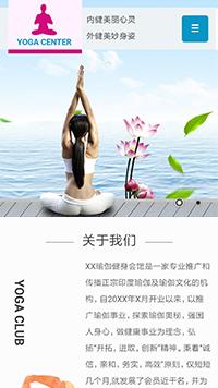 预览运动网站模板的手机端-模板编号:545