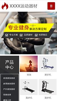 预览运动网站模板的手机端-模板编号:538