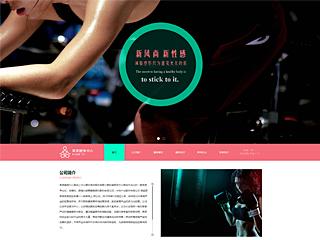 预览运动网站模板的PC端-模板编号:533