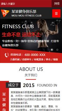 预览运动网站模板的手机端-模板编号:559