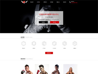 预览运动网站模板的PC端-模板编号:542