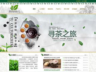 预览茶叶网站模板的PC端-模板编号:2525
