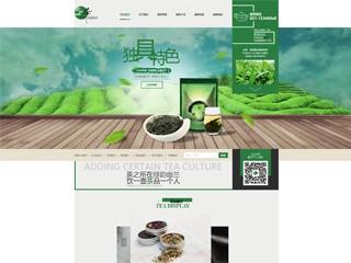 预览茶叶网站模板的PC端-模板编号:2548