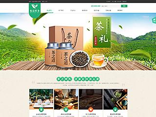 预览茶叶网站模板的PC端-模板编号:2545