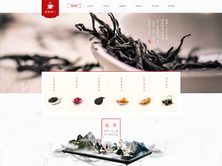 预览茶叶网站模板的PC端-模板编号:2530