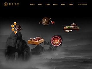 预览茶叶网站模板的PC端-模板编号:2522