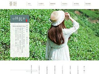 预览茶叶网站模板的PC端-模板编号:2550
