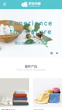 预览纺织网站模板的手机端-模板编号:2579