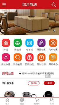 预览网站模板的手机端-模板编号:2908