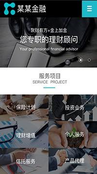 预览网站模板的手机端-模板编号:2885