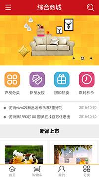 预览网站模板的手机端-模板编号:2829