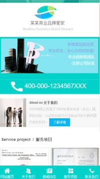 预览网站模板的PC端-模板编号:2938